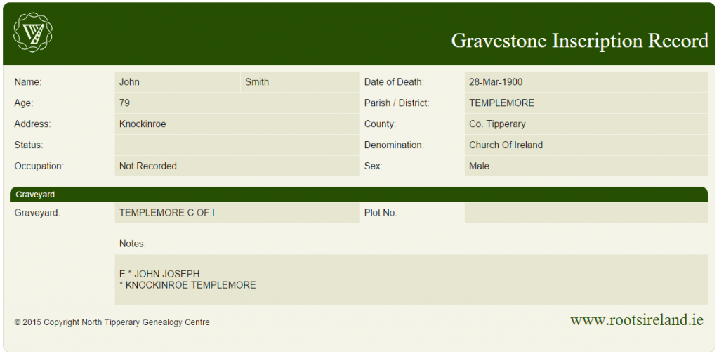 Sample-Gravestone-Record