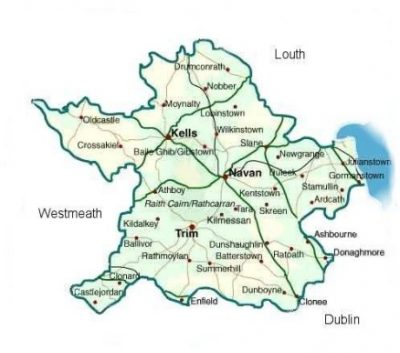 Map Of Co Meath Ireland.Meath Heritage Centre Roots Ireland