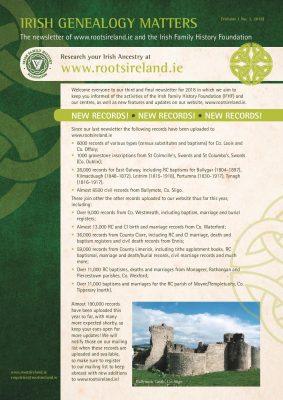 RootsIreland Newsletter No 3