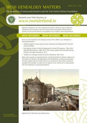 RootsIreland Newsletter No 3
