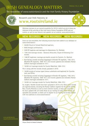 RootsIreland Newsletter Volume 2 No 2